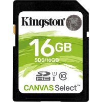 Карта памяти SDHC 16 ГБ Kingston Canvas Select 533x (80 Mb*s)