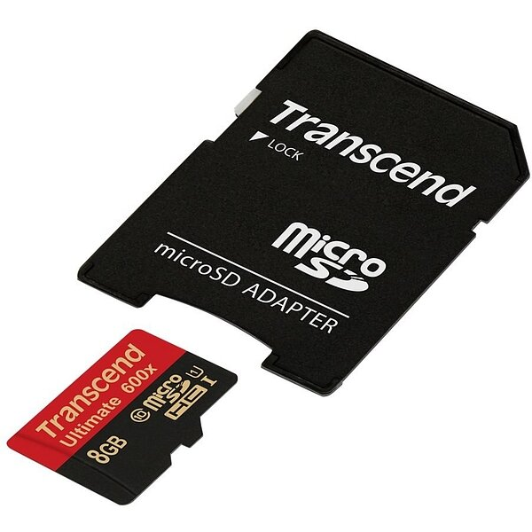 Карта MicroSD 8 ГБ Transcend Ultimate UHS-I, 90 Mb*s