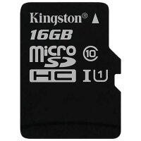 Карта MicroSD 16 ГБ Kingston Canvas Select UHS-I,U1, 80 Mb*s