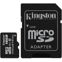 Карта MicroSD 16 ГБ Kingston Industrial Temp UHS-I, 90 Mb*s с адаптером