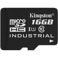 Карта MicroSD 16 ГБ Kingston Industrial Temp UHS-I, 90 Mb*s