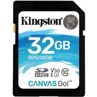 Карта памяти SDHC 32 ГБ Kingston Canvas Go 600x (90 Mb*s)