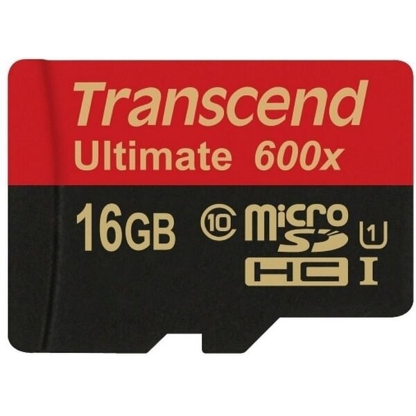 Карта MicroSD 16 ГБ Transcend Ultimate UHS-I, 90 Mb*s