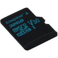 Карта MicroSD 32 ГБ Kingston Canvas Go UHS-I,U3,V30, 90 Mb*s