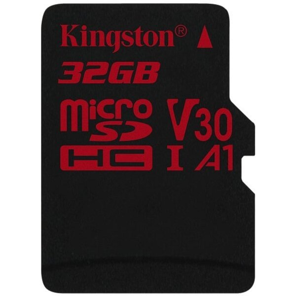 Карта MicroSD 32 ГБ Kingston Canvas React UHS-I,U3,V30, 100 Mb*s