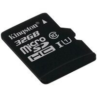 Карта MicroSD 32 ГБ Kingston Canvas Select UHS-I,U1, 80 Mb*s