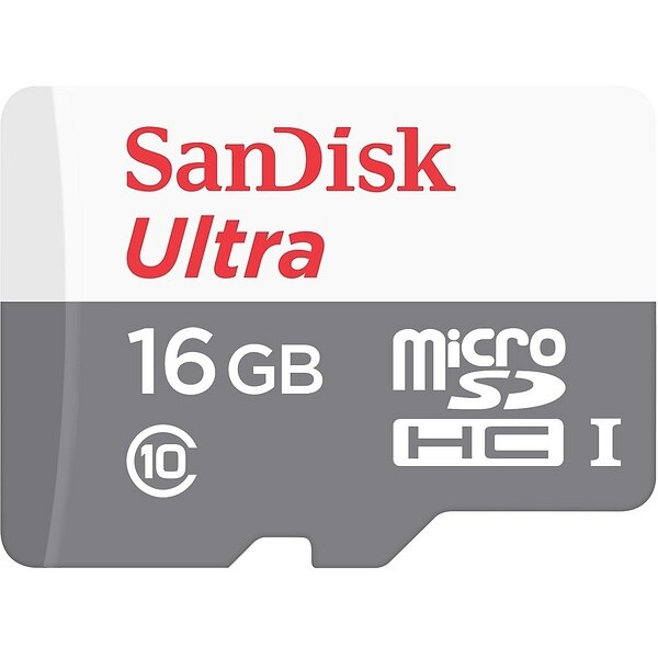 Карта MicroSD 16 ГБ SanDisk Ultra Android UHS-I, 80 Mb*s