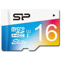 Карта MicroSD 16 ГБ Silicon Power Elite Colored Class 10 с адаптером