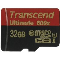 Карта MicroSD 32 ГБ Transcend Ultimate UHS-I, 90 Mb*s