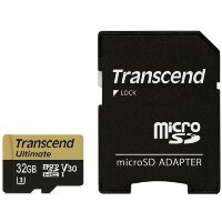Карта MicroSD 32 ГБ Transcend Ultimate UHS-I,U3M, 95 Mb*s