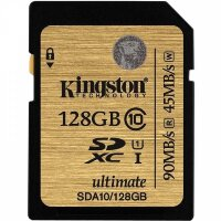 Карта памяти SDXC 128 ГБ Kingston Ultimate 600x (90 Mb*s)