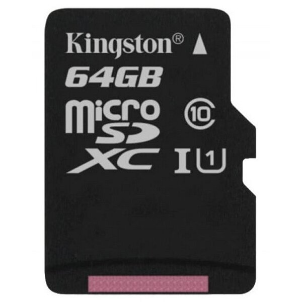 Карта MicroSD 64 ГБ Kingston UHS-I, 45 Mb*s