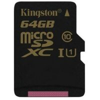 Карта MicroSD 64 ГБ Kingston UHS-I,U1, 90 Mb*s