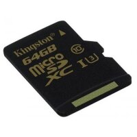 Карта MicroSD 64 ГБ Kingston Gold Series UHS-I,U3, 90 Mb*s