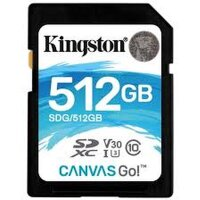 Карта памяти SDXC 512 ГБ Kingston Canvas Go 600x (90 Mb*s)