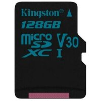 Карта MicroSD 128 ГБ Kingston Canvas Go UHS-I,U3,V30, 90 Mb*s