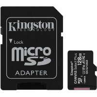 Карта MicroSD 128 ГБ Kingston Canvas Select Plus UHS-I U1 A1 V10 100 Mb*s с адаптером