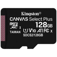 Карта MicroSD 128 ГБ Kingston Canvas Select Plus UHS-I U1 A1 V10 100 Mb*s