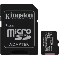 Карта MicroSD 32 ГБ Kingston Canvas Select Plus 100 Mb*s с адаптером