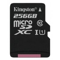 Карта MicroSD 256 ГБ Kingston UHS-I, 45 Mb*s