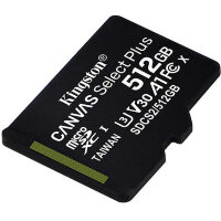 Карта MicroSD 512 ГБ Kingston Canvas Select Plus 100 Mb*s