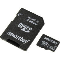 Карта MicroSD 128 ГБ SmartBuy Advanced UHS-I U3 V30 A1 90 Mb*s с адаптером