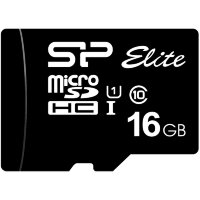 Карта MicroSD 16 ГБ Silicon Power Elite UHS-I 85 Mb*s