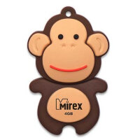 Флешка 4 Гб USB 2.0 Mirex Monkey Brown