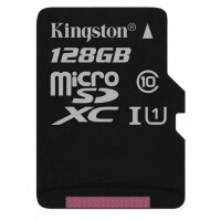 Карта MicroSD 128 ГБ Kingston Canvas Select UHS-I,U1, 80 Mb*s