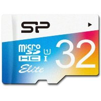 Карта MicroSD 32 ГБ Silicon Power Elite Colored UHS-I 85 Mb*s
