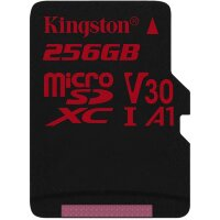 Карта MicroSD 256 ГБ Kingston Canvas React UHS-I,U3,V30, 100 Mb*s